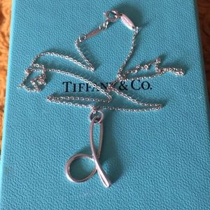 """Tiffany and Co """"d"""" necklace"""